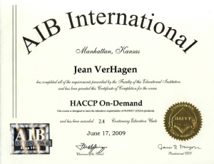 AIB International Certificate